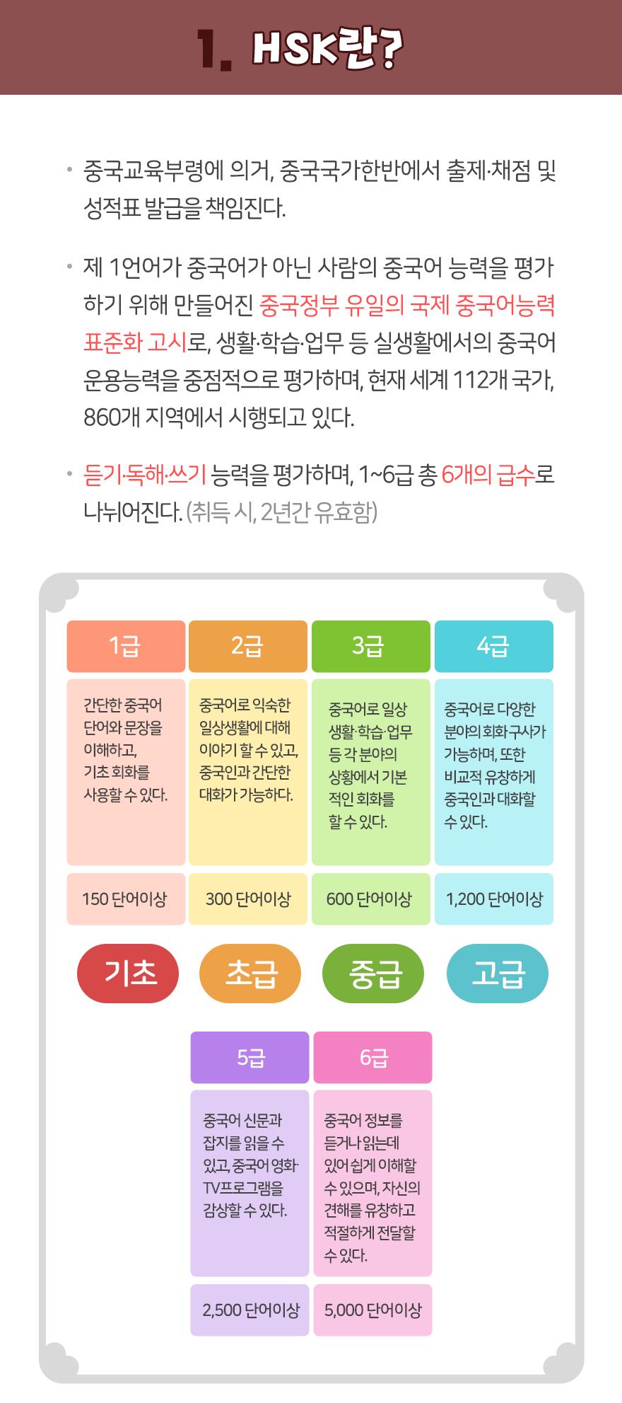 중국어 능력시험 종류 팝업 이미지 2